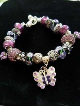 -♡♡ Butterflies in flight♡♡ Euro Bracelet