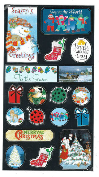 One Sheet Of Christmas Stickers