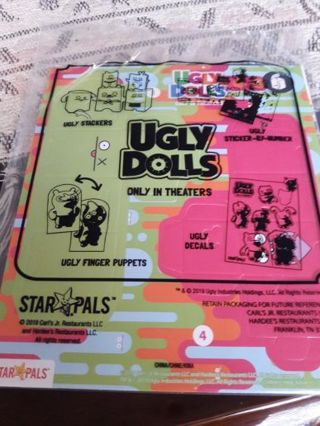 UGLY DOLL (UGLY STACKER SET) Unopened from Carl's Jr. Restaurant. (2019).