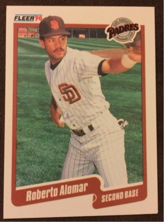 1990 Fleer Roberto Alomar Hall of Fame baseball card
