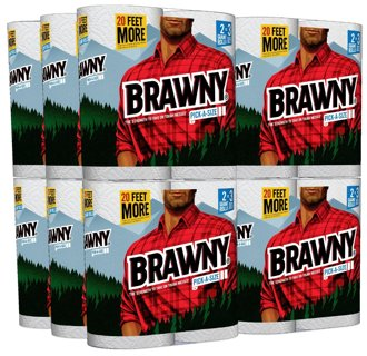 Brawny  Paper Towels, 24 Giant Rolls