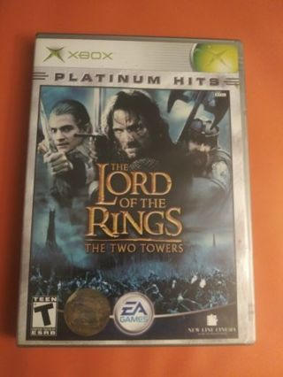 Xbox game - Lord of the Rings: The Two Towers (complete)