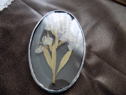 Pressed Flower Etched Stain Glass Decoration