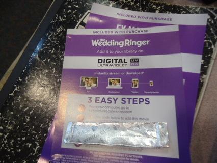UV code for   THE WEDDING RINGER