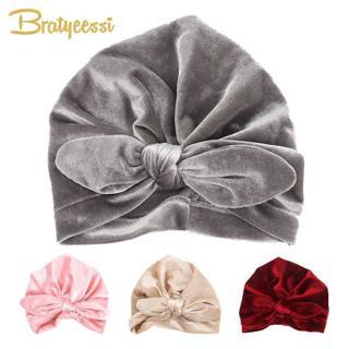 New Velvet Baby Hat for Girls Autumn Winter Baby Boy Cap Photography Props Elastic Infant Beanie T