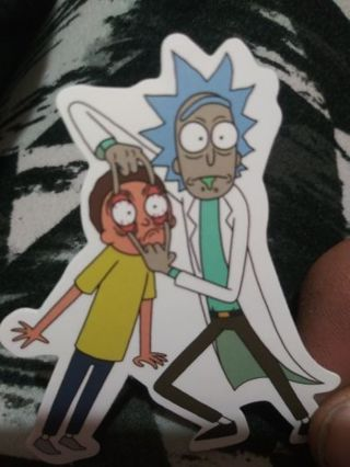 Rick and morty vinyl lab top sticker No refunds! Lowest gins no lower! Always bonus!