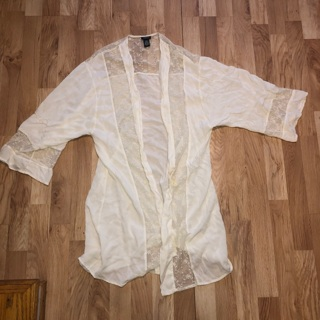 Rue21 Cream Lace Cover Up XS