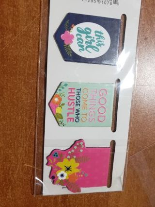 3 Magnetic bookmarks