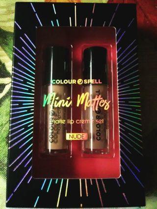 "BNIP 2pc Colour Spell Mini Matte ""Nude"" Lip Creme Set"