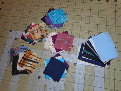 59 Pre-cut fabric pieces