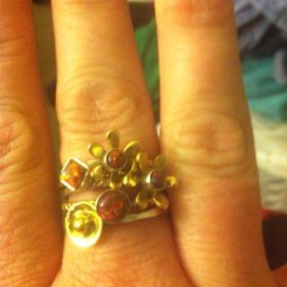 925 sterling silver &ethiopian fire opal ring