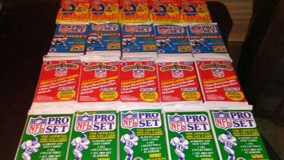 20 SEALED FOOTBALL CARD PACKS
