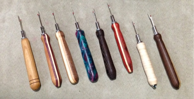 Handmade Handlathed Single Seam Rippers