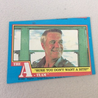"""1983 Topps The A-Team - [Base] #26 """"Sure You Don't Want A Bite?"""""""