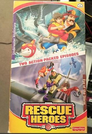 1 Fisher Price Rescue Heroes Kids Movie Cartoon Video