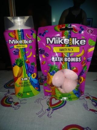 ❤✨❤BRAND NEW MIKE and IKE 3 in 1 PARADISE PUNCH HAIR & BODY WASH +3 PACK OF MATCHING BATH BOMBS❤✨❤#2