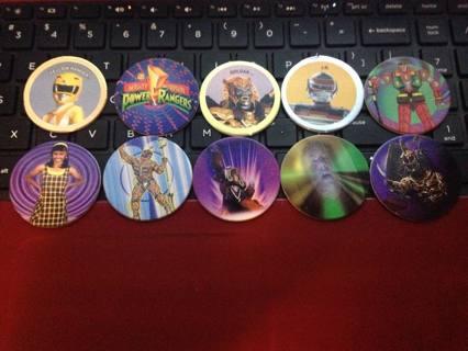 Free: Power Rangers Rare Pogs! Lot of 10! Yellow Ranger