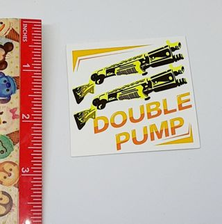 Fortnite Double Pump Large Sticker Decal NEW