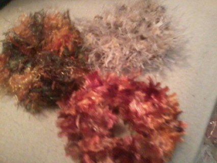 Hand made scrunchies made by Girly Girls Boutique