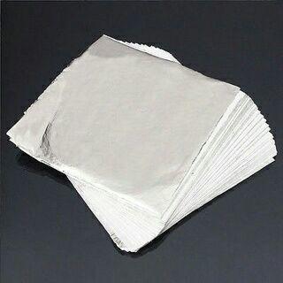 100 Sheets/Pack 14x14cm Imitation Silver Leaf Aluminum Leaf Gilding Craft DIY