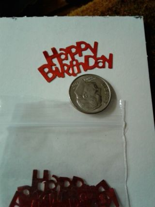 Red happy birthday