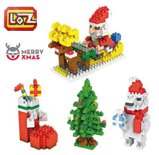 LOZ Merry Christmas Xmas Mini Building Nano Block Toys Kids Gift New