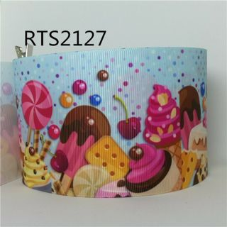 """Candy and Sweets yummy 7/8"""" grosgrain ribbon 1 yard NEW"""