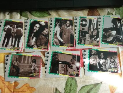 """8 - Bob Marley: The Legend """"Snapshots"""" Trading Cards"""