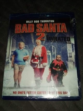 Brand New, BAD SANTA 2 UNRATED / A Hilarious Comedy Movie on Blu-ray Disc / Free Shipping / Low GIN