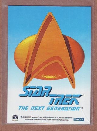 1992 RARE Factory Tin Star Trek Bonus Captain Jean-Luc Picard Insert Card !!!