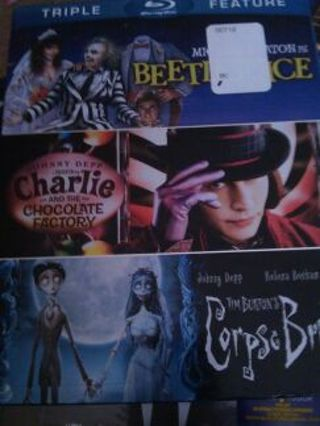 Triple Feature (Beetlejuice, Charlie and the Choc. Fact. and Corpse Bride)