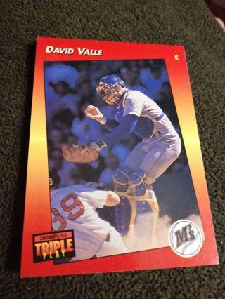 Baseball Card - David Valle 1992