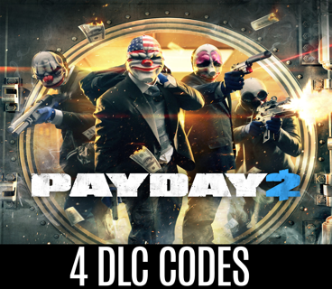 4x Payday 2 DLC (Steam Keys)