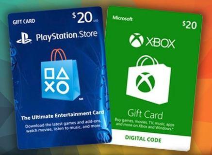 Free: 1 $20 PSN e Card or $20 Xbox LIVE e Card Giftcard e Code