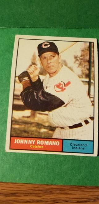 1961 - TOPPS EXMT - NRMT BASEBALL - CARD NO. 5 - JOHNNY ROMANO - INDIANS