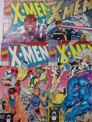Set of 4 X-Men #1 Four Covers 1991 Special Collectors Edition,Magneto,Beast,Group Comics