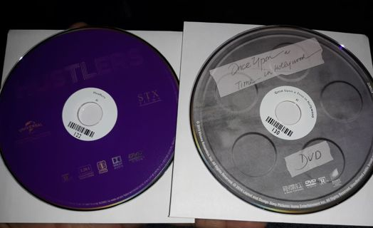 2 DVD MOVIE DISC ONLY HUSTLERS AND ONCE UPON A TIME IN HOLLYWOOD
