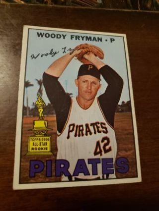 1967 Woody Fryman Pittsburgh pirates vintage baseball card