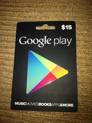 15 Google Play Gift Card