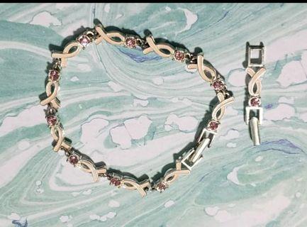 Breast cancer awareness bracelet~ avon