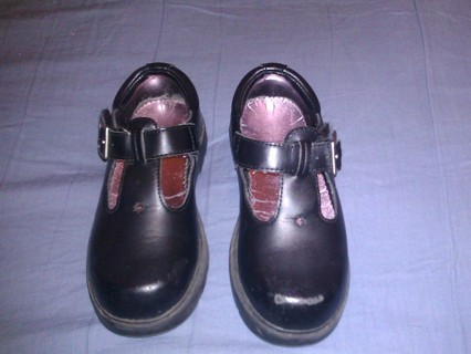 Stride Rite Munchkin Black Leather Mary Jane T Strap Josie II Shoes size 9