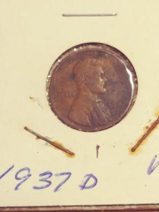 1937-D Linoln Wheat Penny! 125
