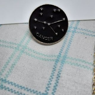 Cancer zodiac pin