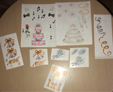 Lot of Wedding Themed Creative Memories Stickers for Scrapbooking, etc.