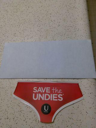 Save the undies kotex sticker