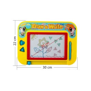 Magnetic Drawing Board For Kids - Erasable Colorful Classic Doodler With 2 Stampers And Pen