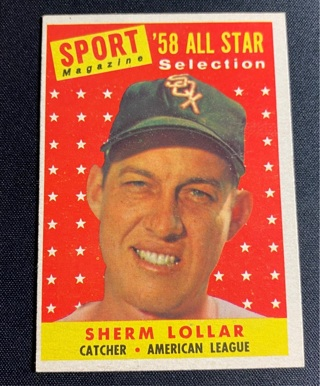 1958 Topps Sherm Lollar All Star #491 NM/MT