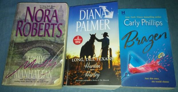 Three Romance-Fiction Novels!!!
