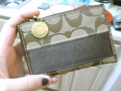 """Authentic""Coach coin purse"