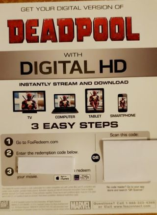 Deadpool Digital Copy